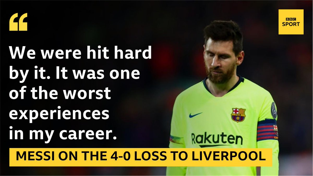 Lionel Messi has opened up on the pain Liverpool caused him and Barcelona - and how they must go about easing it. Read: https://bbc.in/2K42dsL