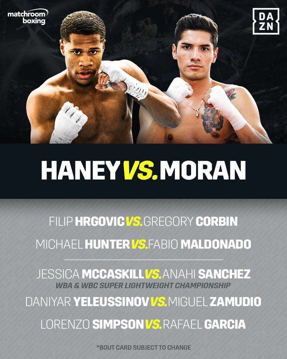Sponsor Matchroom Boxing Usa: Boxing Card Tonight Dazn