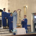 Image for the Tweet beginning: Eighth-graders celebrated May Crowning this