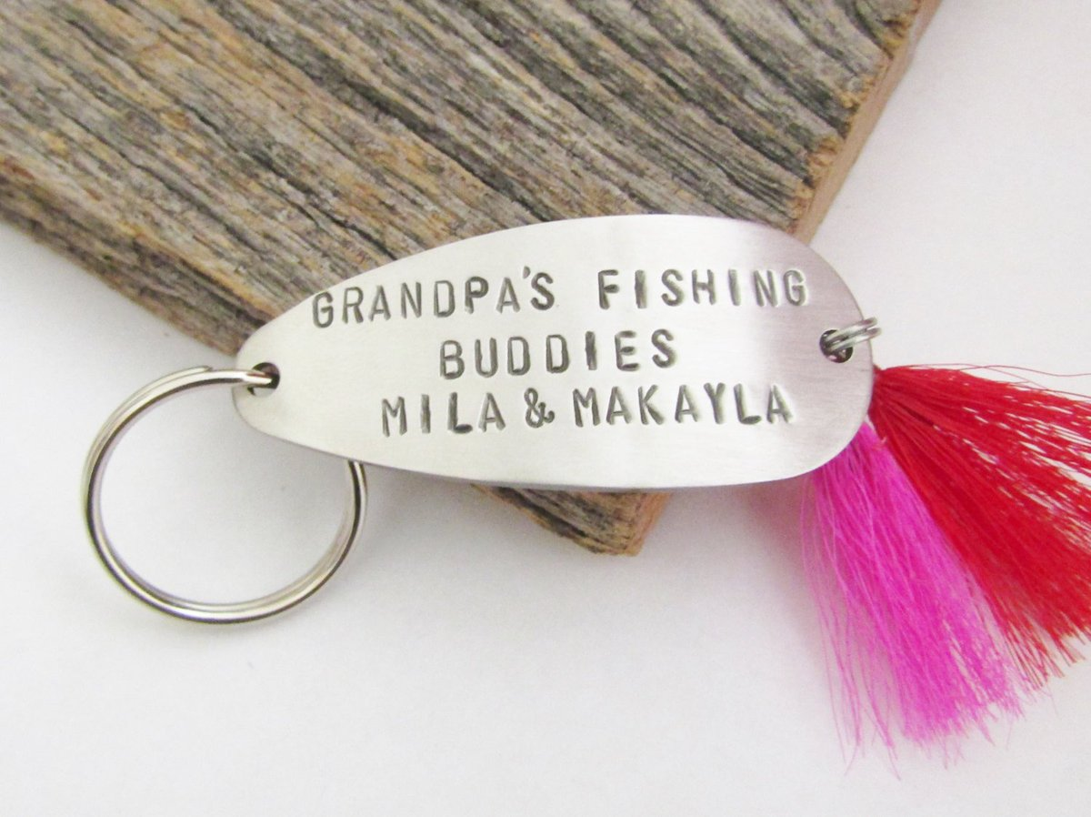 Gift for Grandparents Christmas Gift Grandmother Fishing Lure Keychain New Grandparents Grandbaby Gift for Mom and Dad Grandchildren's Names http://tuppu.net/fbddd773 #CandTCustomLures #Shopify #Mother'S_day_mom