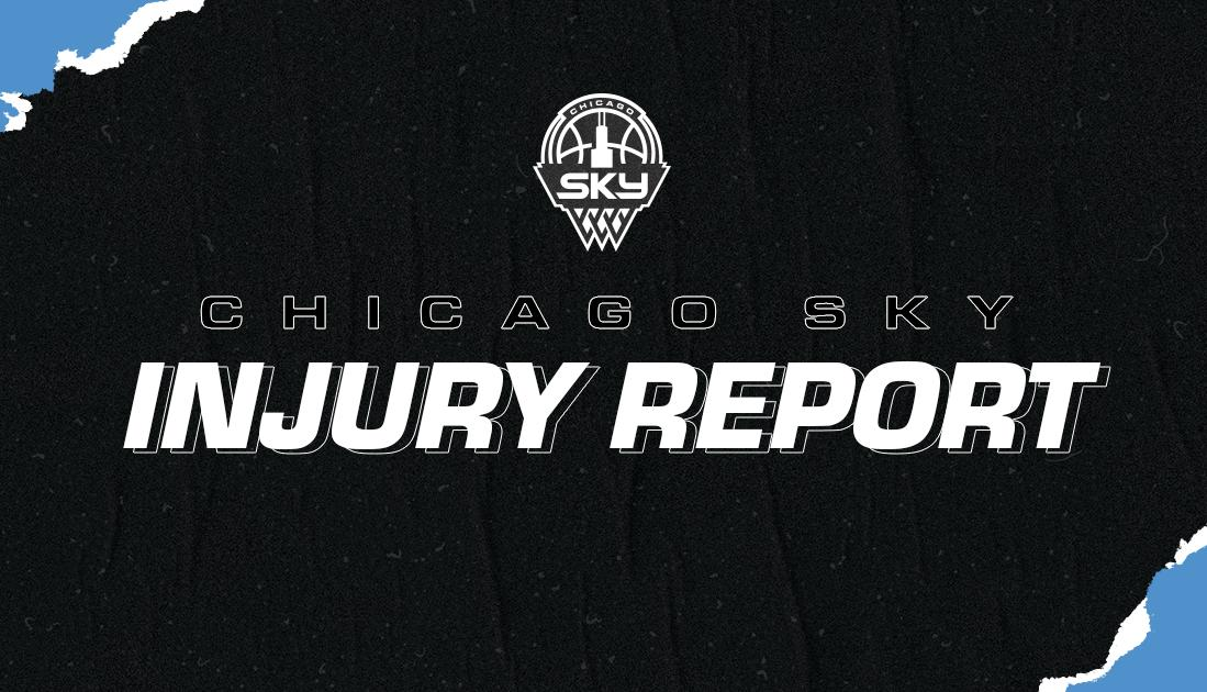 Injury Report heading into tomorrow night's game at @minnesotalynx:  Jamierra Faulkner (knee) is doubtful