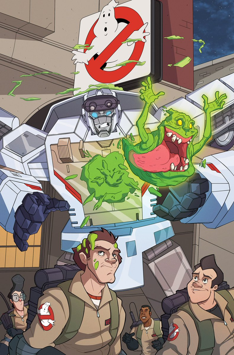 My cover for Transformers/Ghostbusters #3 from IDW  Publishing really happy I got the chance to draw the GB again ... #Transformers #Ghostbusters