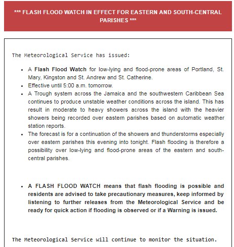 A Flash Flood Watch has been issued. <br>http://pic.twitter.com/MlWKZbf6Ry