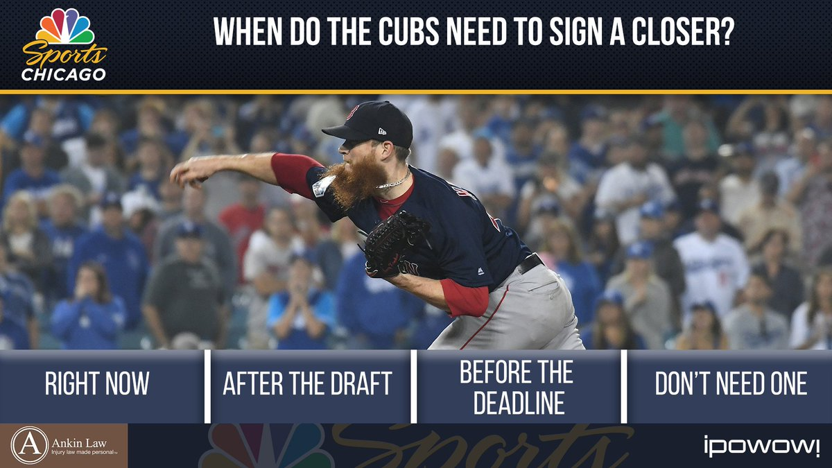 When do the #Cubs need to sign a closer?   Vote here: http://nbcschicago.com/vote  Tune in to @SportsTalkCHI at 6 for results!