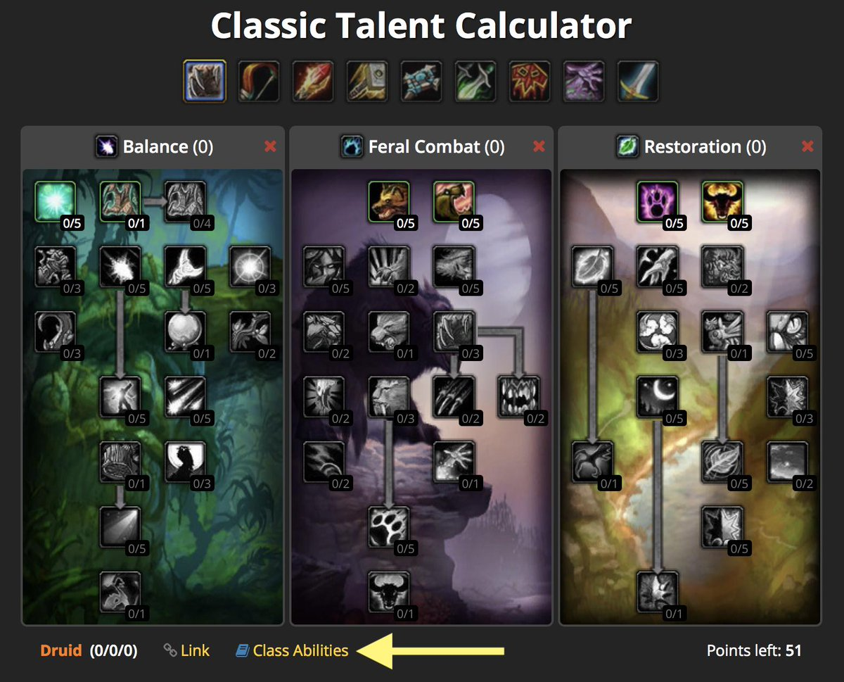 wow classic mage talent tree