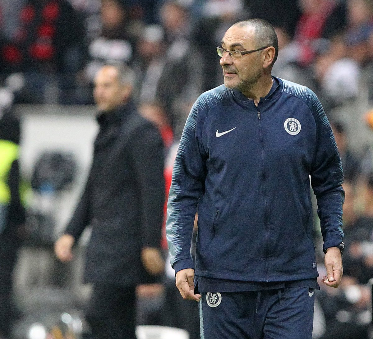 Maurizio Sarri looking closer to winning his first trophy in his coaching career. Come May 29. #UELfinal #ChelseaFC #CFC