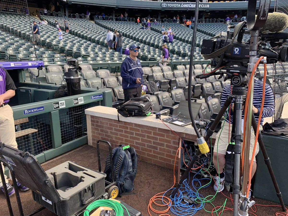 Join us on #9Sports at 5PM. We're live with Rockies pitcher Jon Gray as the Rox get set for a 10 game home stand. This makeshift office isn't too bad either! <br>http://pic.twitter.com/LJKJWGMLzw