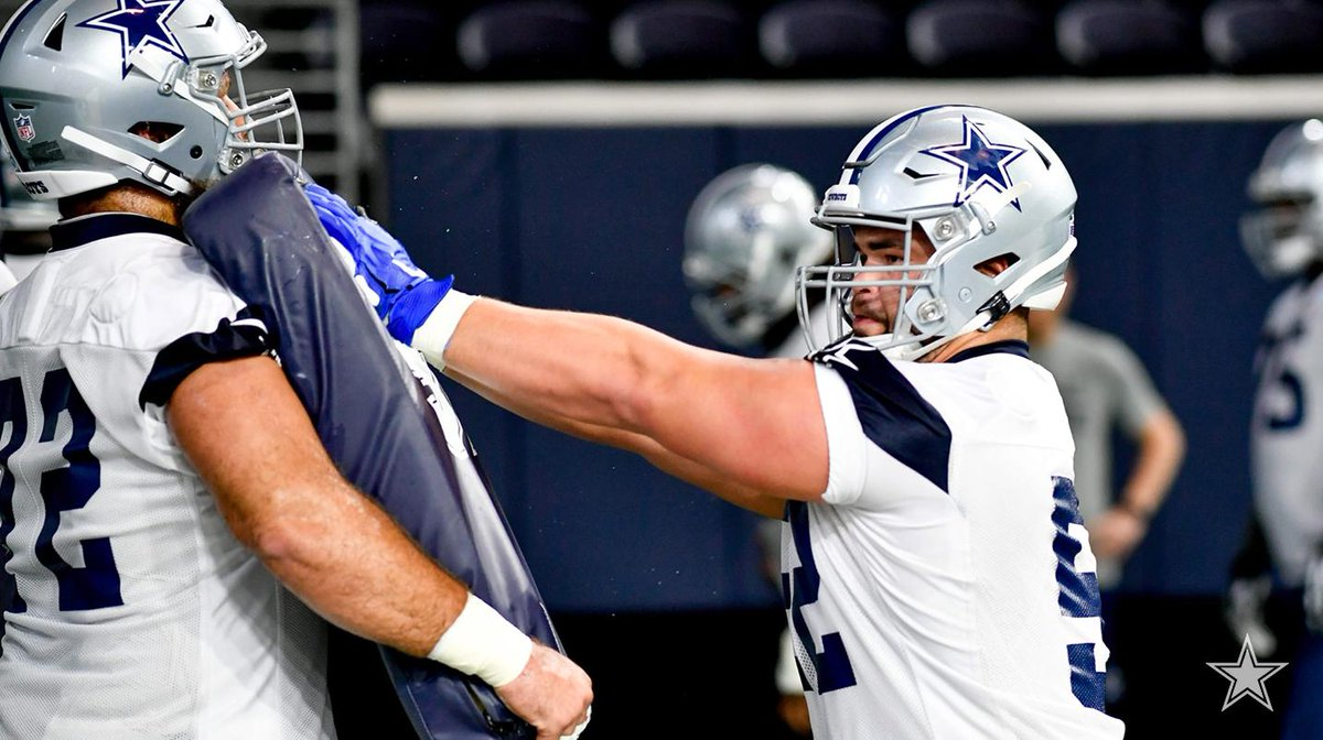 """""""The main focus during the offseason is strength and getting the power up."""" #DallasCowboys second-year guard Connor Williams' discusses his offseason instructions.  📰 http://bit.ly/2K35PeE"""