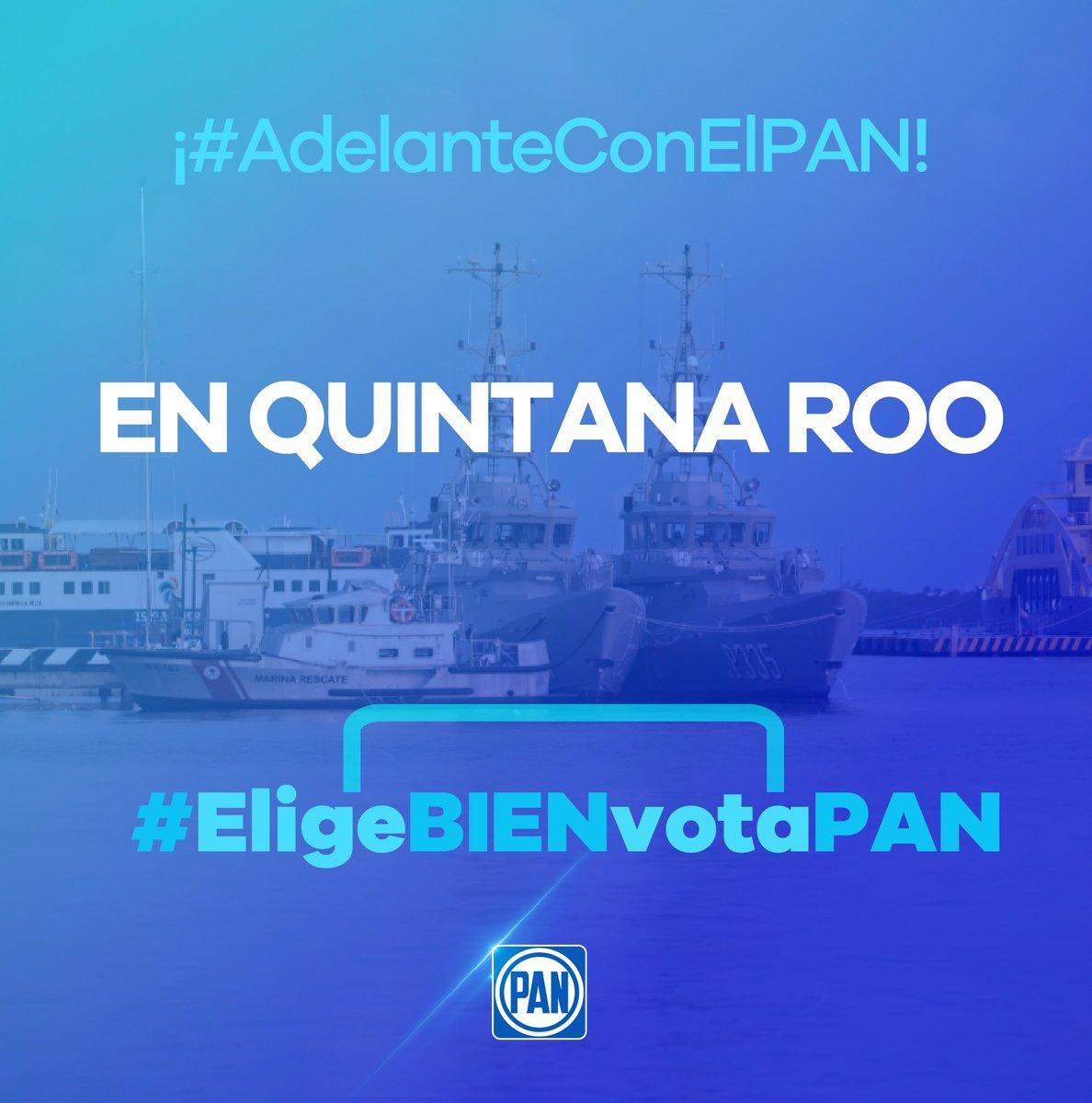 En #QuintanaRoo tenemos los mejores candidatos, los que tienen las propuestas para ir hacia adelante y generen bienestar para este bello estado. Este 2 de junio no hay que dar un paso hacia el pasado autoritario, #EligeBIENVotaPAN.