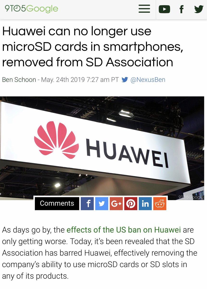 SD联盟宣布根据美国政府要求终止华为会员资格,禁止华为在任何产品中使用microSD卡。这个华为还真有备胎,已在部分产品中使用自创的卡,不知还没用上备胎的产品要不要停产?Wifi联盟和半导体标准机构JEDEC也都暂时终止华为会员资格。现在是一家企业对抗全世界半导体产业。