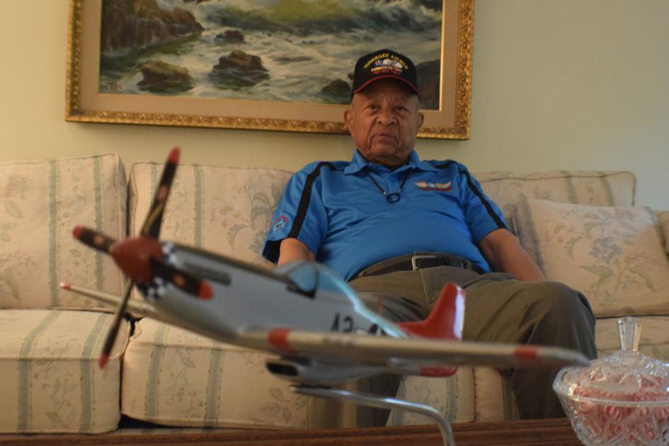 Harry Stewart Jr. reflects on service as a Tuskegee Airman and challenges faced during WWII http://bit.ly/2HRASHD