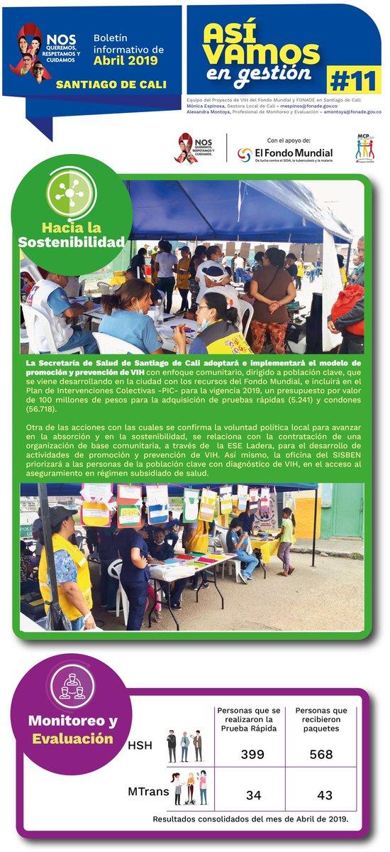 Antes de finalizar el día te invitamos a leer los avances y resultados de nuestra gestión en Santiago de Cali. Lee y comparte el Boletín de gestión #1️⃣1️⃣ 😁 @gamicali  @RedSaludLadera @SaludCali @GlobalFund @MCPcolombia