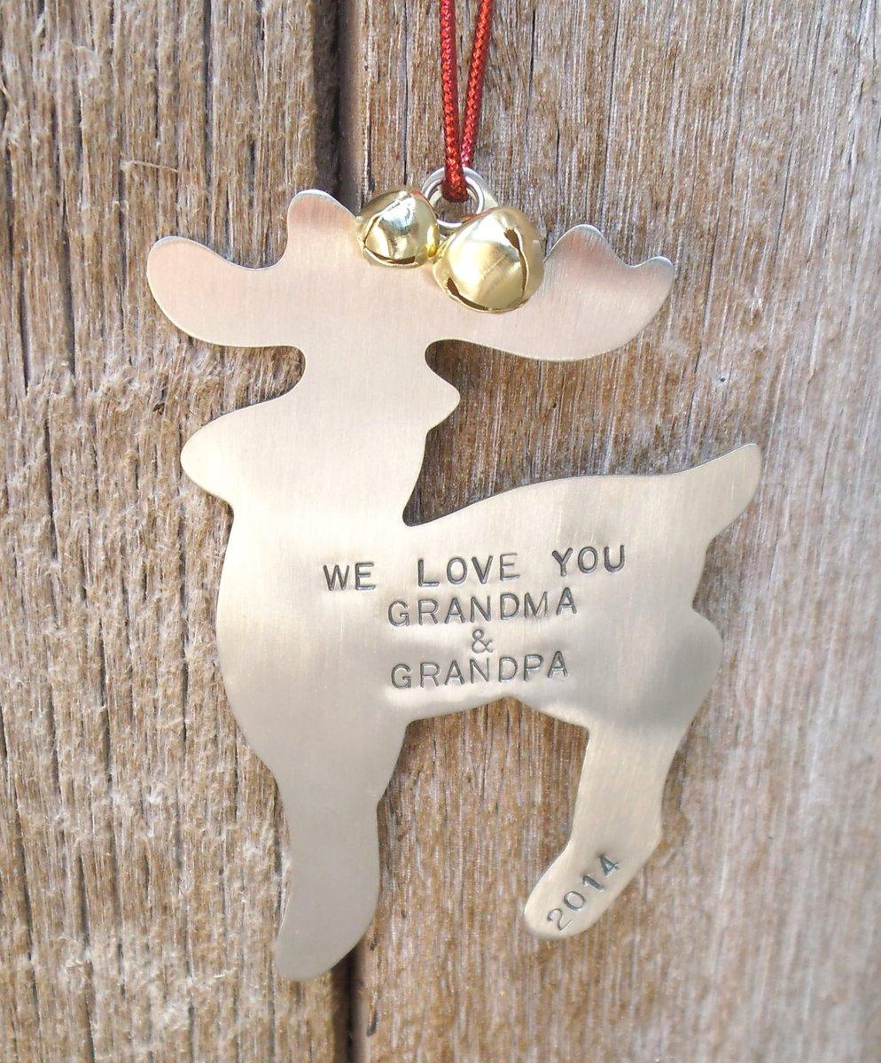 Grandparents Ornament Reindeer Personalized Deer Ornament for Grandpa Ornament for Grandma Hunting Theme Christmas Tree Papa Nona Grandkids http://tuppu.net/e1f0f59b #CandTCustomLures #Shopify #FishingGifts
