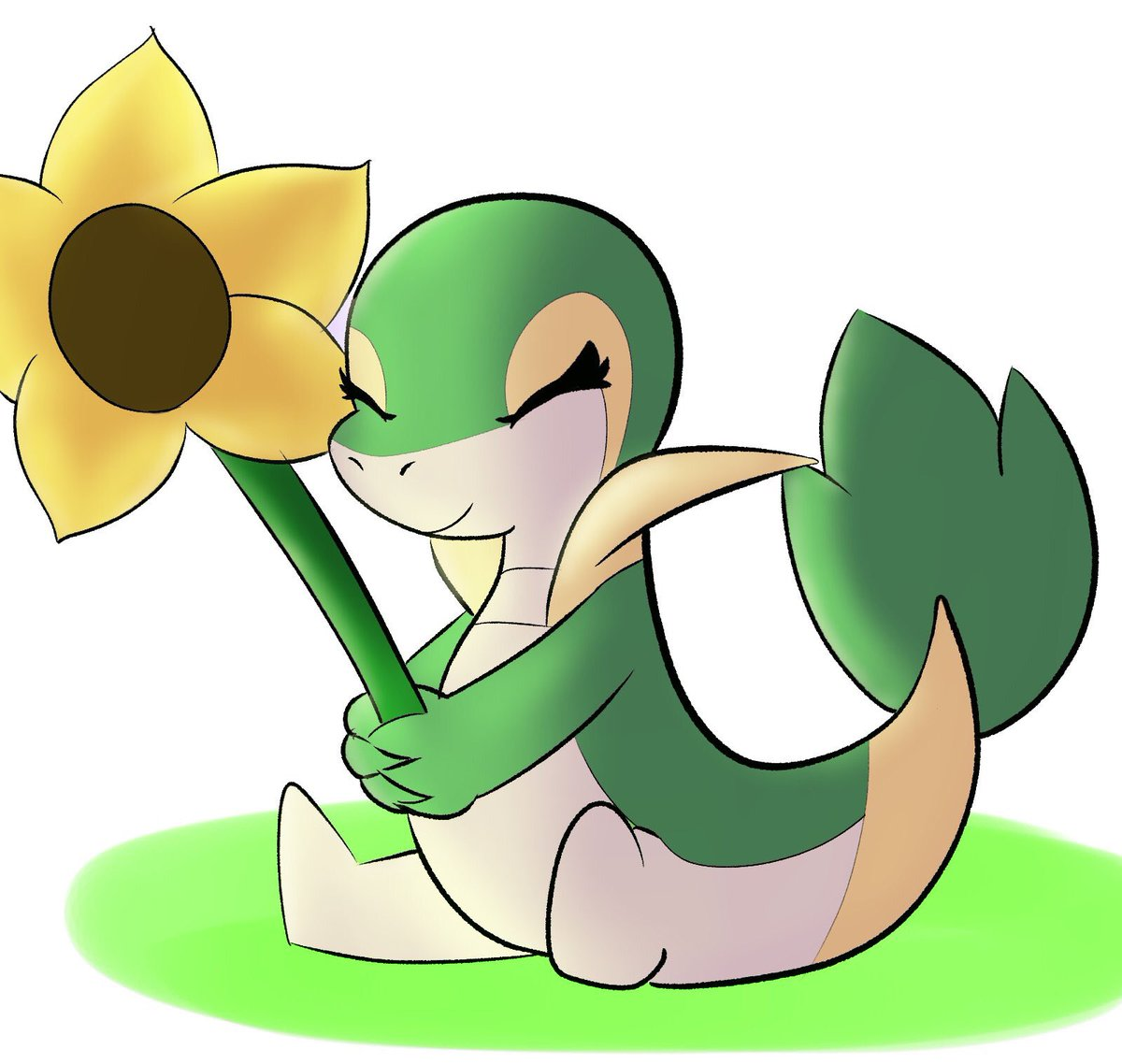 Commission for @pokken300, their snivy is cute!!