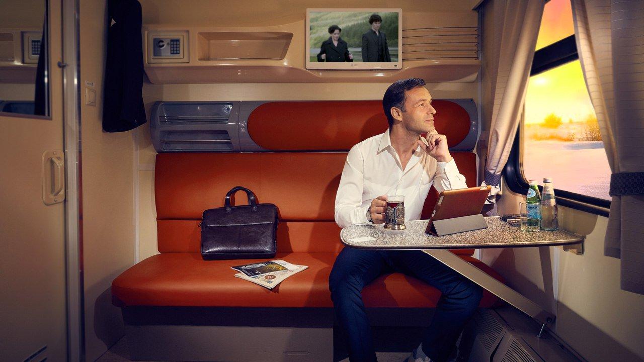 Смотреть онлайн поездка в купе поезда — 7
