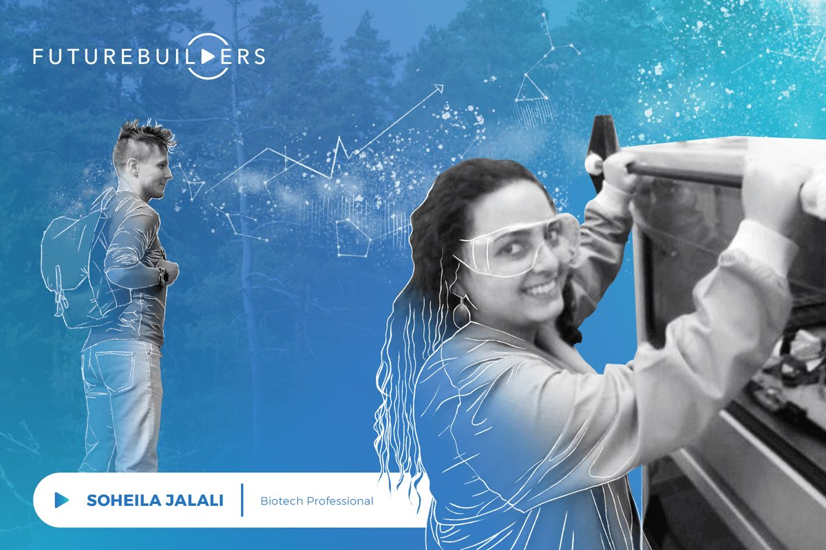 Soheila Jalali(@sohailajay) is a passionate #biotech #professional doing her master's degree in Molecular #Biology and #Biotechnology. She also has experience from health technology startup in India. ▶️ https://wearefuturebuilders.com/futurebuilders-podcast-with-soheila-jalali-professional-in-biotechnology/…