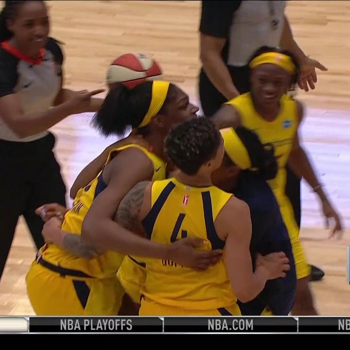 Teaira McCowan WINS IT at the 🚨 for the @IndianaFever on @WNBA Opening Night! 👏