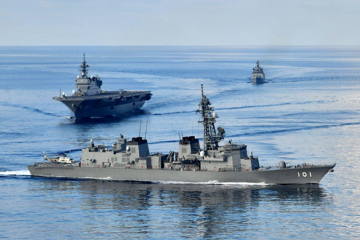【平成31年度インド太平洋方面派遣訓練(IPD19)】 5月23日から24日にかけて、IPD19は、インド海軍と共同訓練を実施し、インド海軍との連携を強化しました。 IPD19は、引き続き、あらゆる任務に即応し得る態勢を備え、地域の平和と安定への寄与を図ります。
