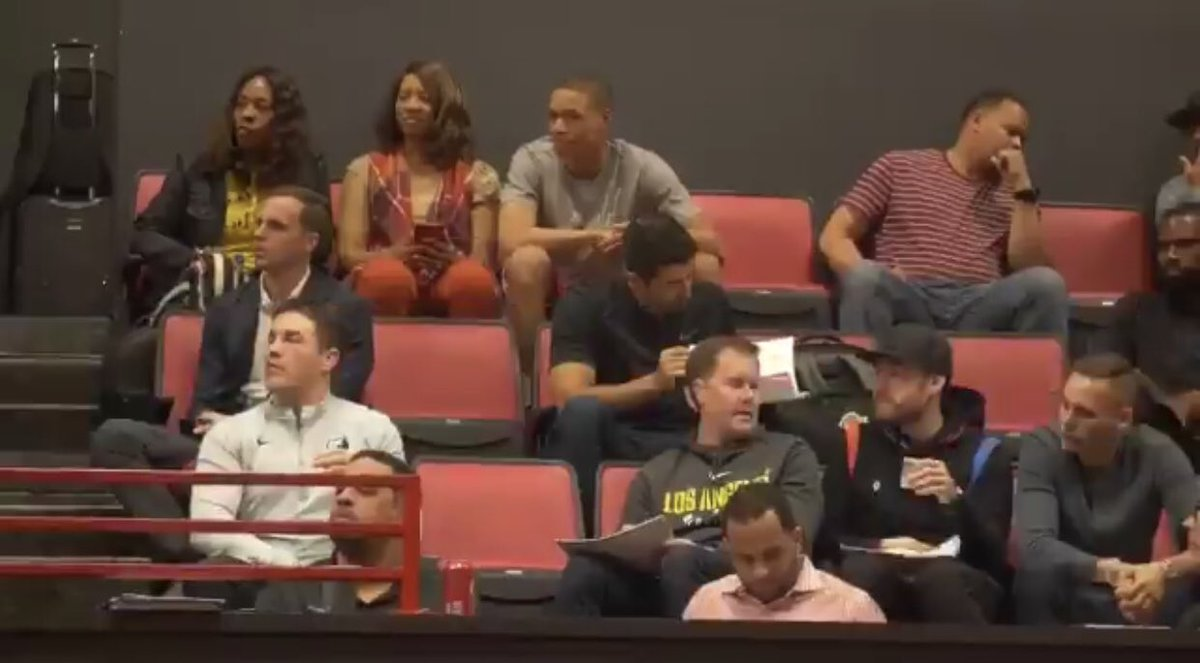 Jesse Buss and Ryan West at Jarrett Culver's pro day #Lakers #NBADraft<br>http://pic.twitter.com/6sJa5OPUom
