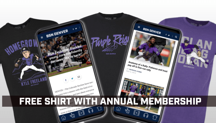 SUBSCRIBE & GET A FREE ROCKIES SHIRT!  🚨 Die-hard Rockies fans wanted 🚨   Get the best Rockies coverage in the world with your BSN Denver subscription and one of our great t-shirts from The Locker.   Join the family today!  SIGN UP NOW: https://bsndenver.com/subscribe/