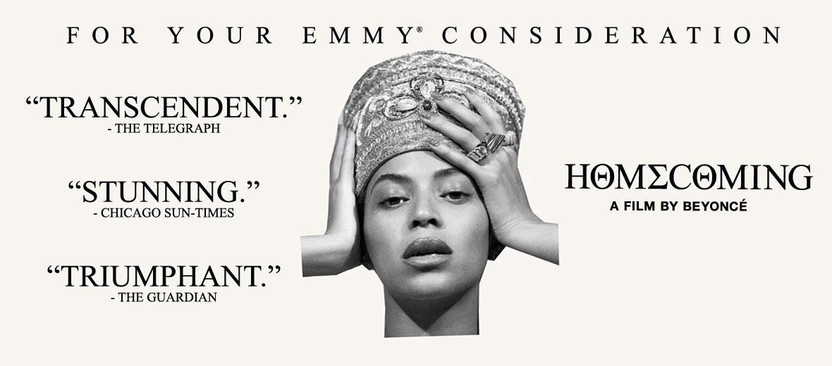 .@Netflix will be holding a special event for Beyoncé's Homecoming for @TheEmmys members on May 28th.  The screening event will be followed by a special performance with Homecoming talent. http://bit.ly/2HASpou