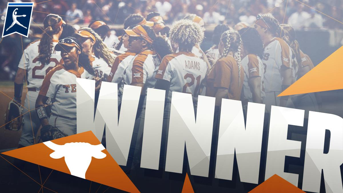 TEXAS FORCES GAME 3!  We&#39;ll have a winner-take-all game tomorrow as the Longhorns notch a huge comeback win vs. Alabama.  #NCAASoftball | @TexasSoftball<br>http://pic.twitter.com/n0gypRV9Xq
