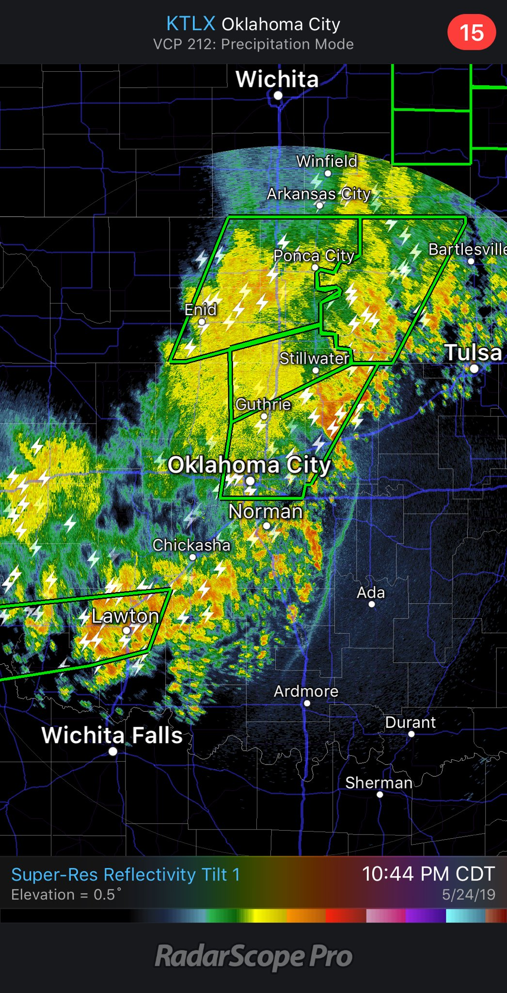 Live Weather: Storms moving through Oklahoma
