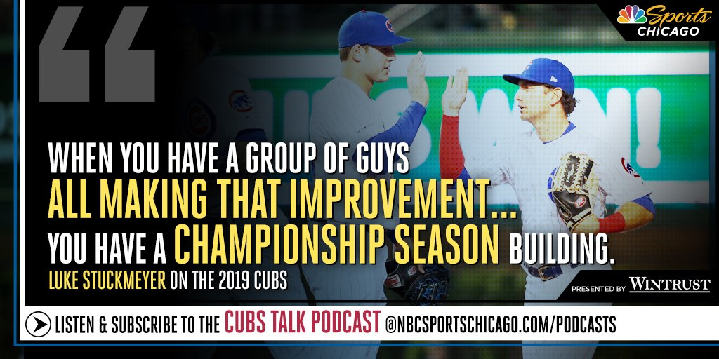 On the latest #Cubs Talk Podcast, @LukeStuckmeyer is joined by @thekapman & @David_DeJesus3 to breakdown the 2019 Cubs redemption stories   LINK: https://bit.ly/2Qn1ZOG