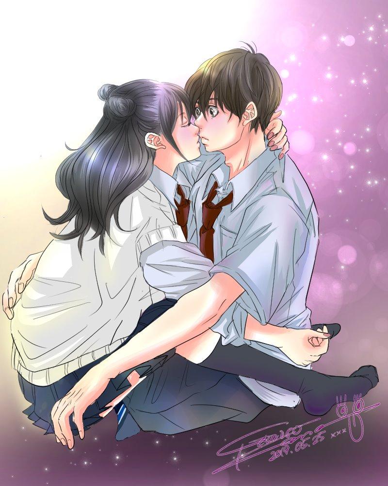 銀色 かな 公式連載完結 Line漫画 Na Twitteru イラスト描いたです キャス楽しかった イラスト 少女漫画 銀色かな キス Kiss 高校生 カップル かわいいと思ったらrt いちゃいちゃ