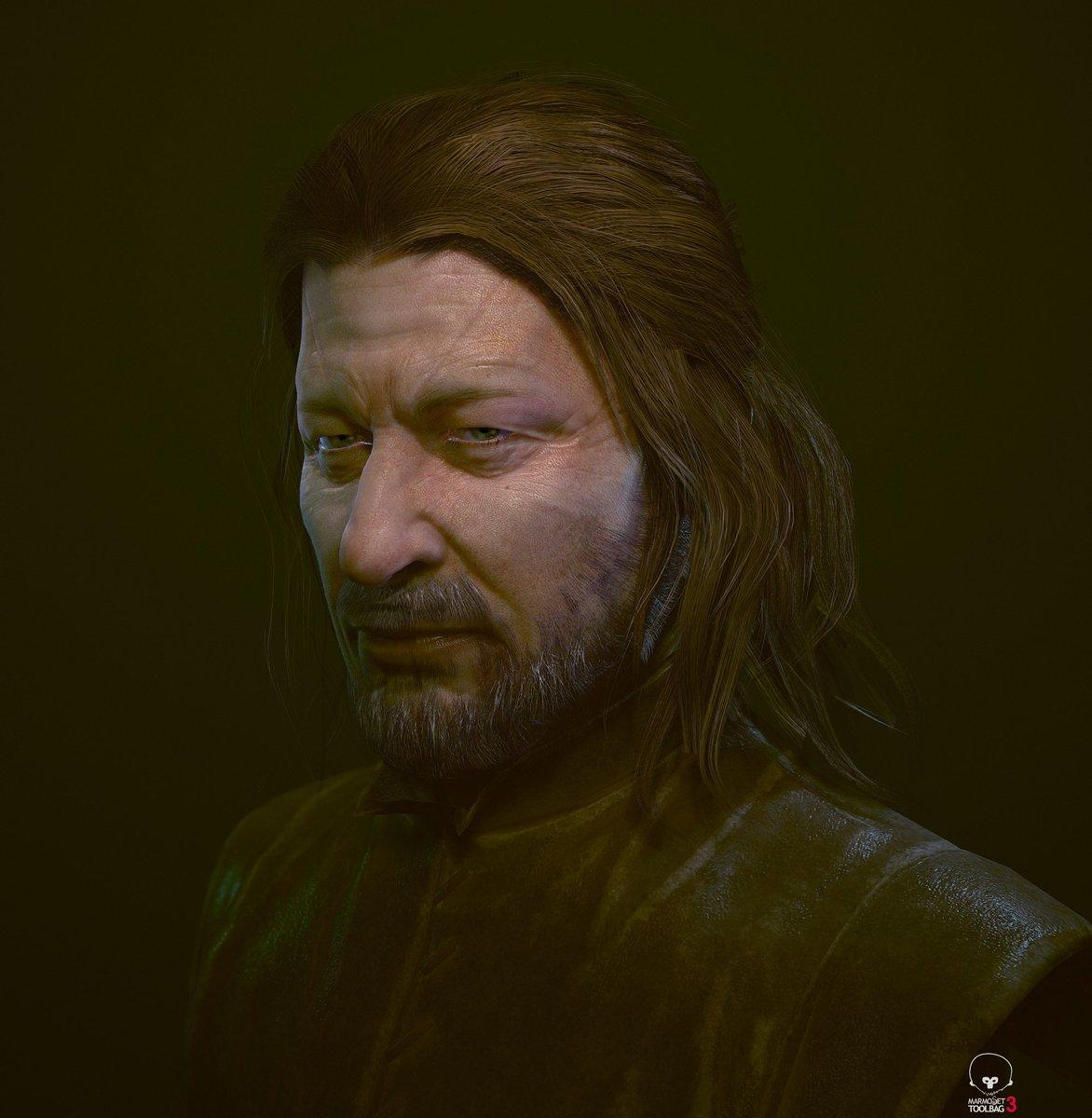 Game of thrones Fan art. Eddard stark. 海外ドラマは長引くとだれて飽きてしまうけど、先に進めば進むほどはまってしまったいいドラマでした! #zbrush #MarmosetToolbag