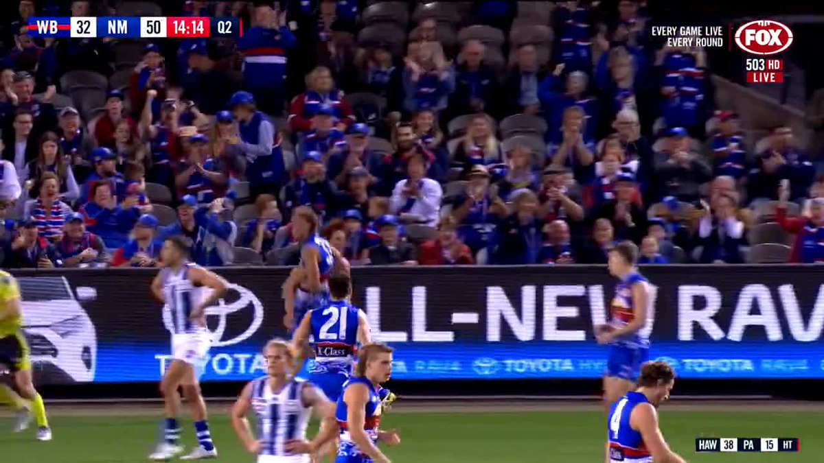 ⏪ of Naughty's brilliant ⚽️🥅 finish!  #AFLDogsNorth #MightyWest