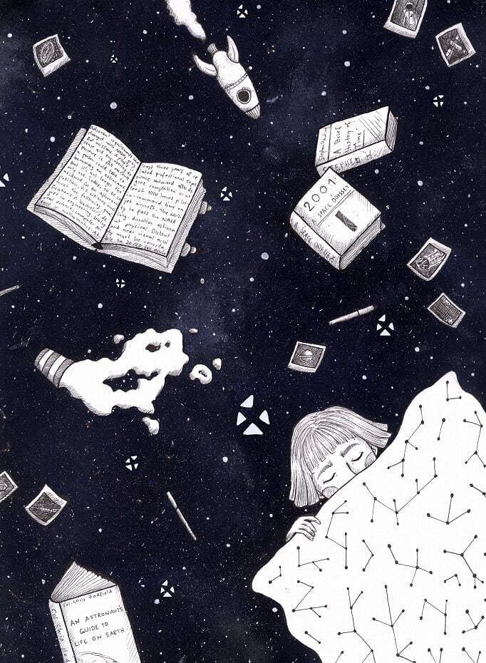 @xppenusa  I draw inspiration from all the things that are happening around me. I process them while I&#39;m dreaming so I wanted to draw myself asleep, floating in space.  Thank you for the amazing contest! #inspirationxppen  @TeaFakku<br>http://pic.twitter.com/rniiTxkAhh