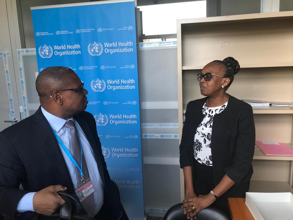 Just met the DG Health from 🇨🇫. During my discussion with the Minister of Health we agreed to work on documenting how health can be delivered in conflict areas. #WHA72
