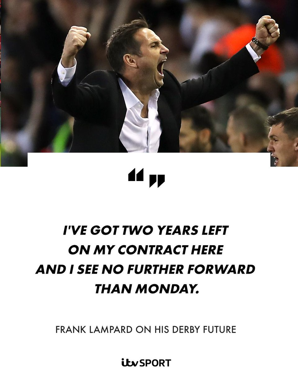 Lampard to hold @dcfcofficial talks after play-off final amid @ChelseaFC speculation  https://www.itv.com/news/2019-05-24/lampard-to-hold-derby-talks-after-play-off-final-amid-chelsea-speculation/ …