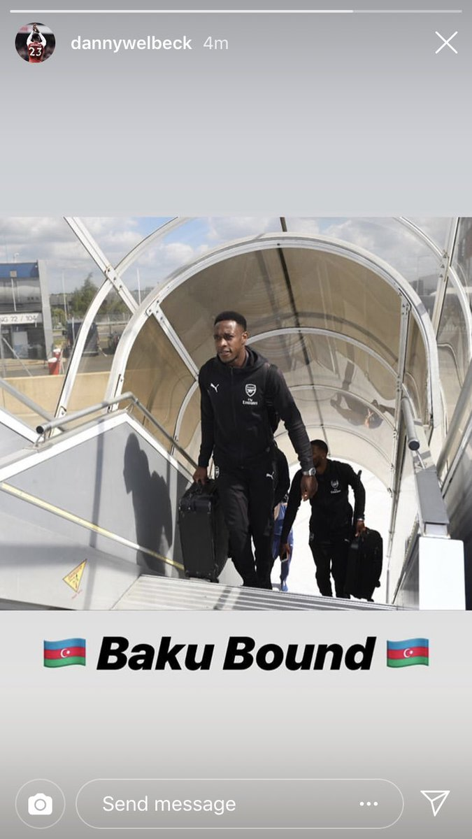 Welbeck last minute winner incoming......  Arsenal are on their way to Baku. Saka and Amaechi are both with the travelling squad <br>http://pic.twitter.com/3R6k57QnVc