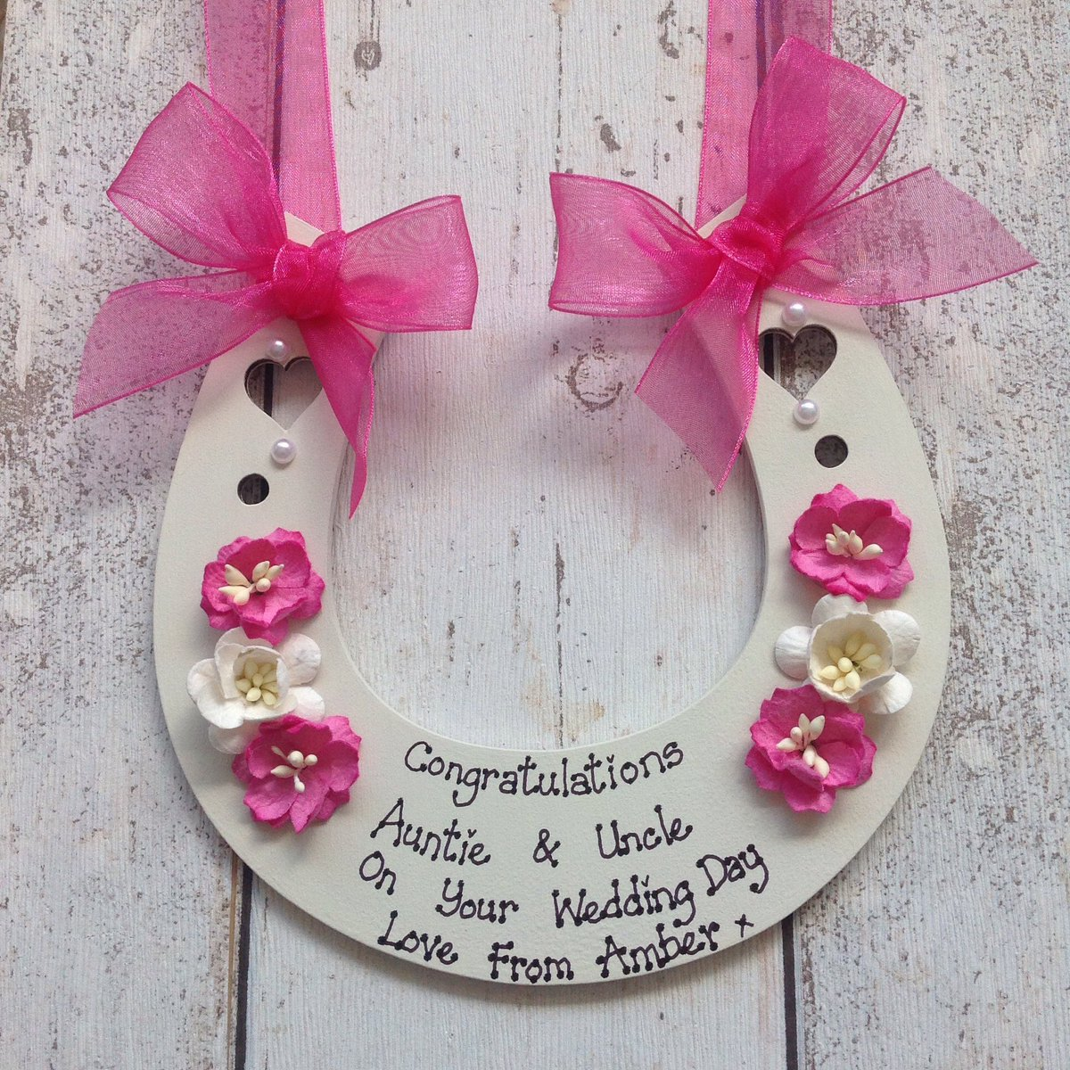 6aba277d9 Excited to share this item from my #etsy shop: Personalised Wedding  Horseshoe keepsake gift
