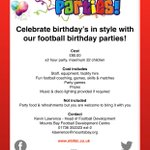 BIRTHDAY PARTY 🎉⚽️ We host yet another football birthday party this morning, happy birthday Alfie! To book your party click the link https://t.co/rplInxGsSz