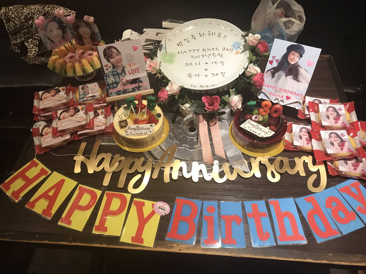 HAPPY BIRTHDAY SUNNY & YOONAWeU.From Tokyo with J-SONE.#GG #SUNNY #YOONA #SNSD #HappySunnyDay #HappyYoonaDay