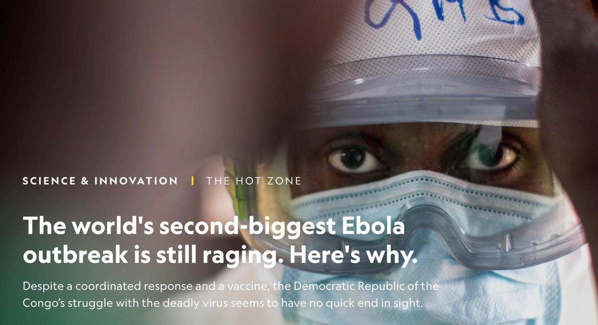 #Ebola el segundo brote mas importante en la historia de este #virus sigue  extendiendose a pesar de #Vacunas y tratamientos, infectando a un número inusualmente alto de niños, casos sin una conexión con pacientes anteriores, https://www.nationalgeographic.com/science/2019/04/worlds-second-biggest-ebola-outbreak-still-raging-heres-why-hot-zone/…
