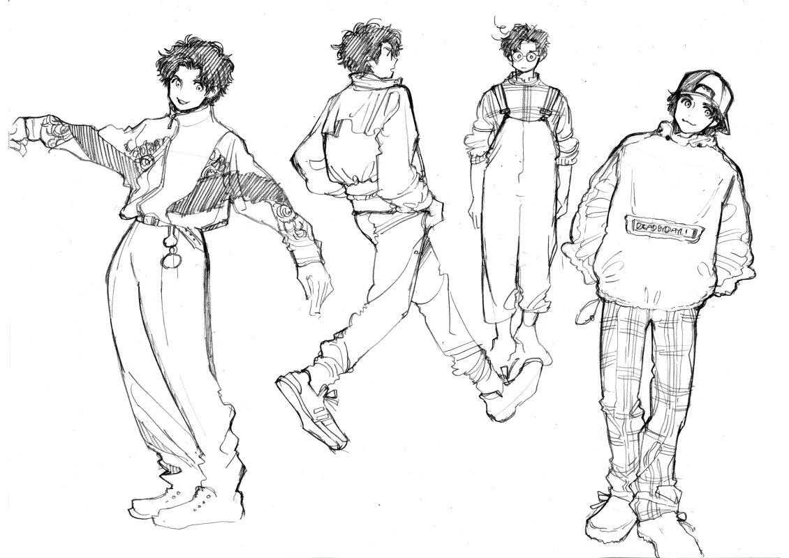 あと、ジェイクの追加スキン(服)が揃いも揃ってなかなかダサい…ダサkawaii…気がする中、たまたまその頃に買ったファッション雑誌もそれ系だったので描いた過去絵。