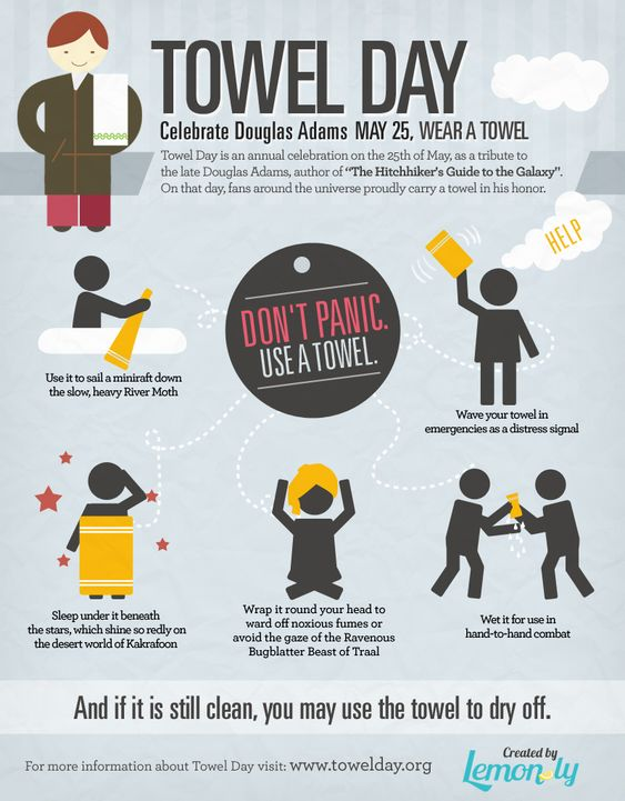 "test Twitter Media - ""A towel, [The Hitchhiker's Guide to the Galaxy] says, is about the most massively useful thing an interstellar hitchhiker can have.""  #TowelDay https://t.co/BVIM54GHMe"