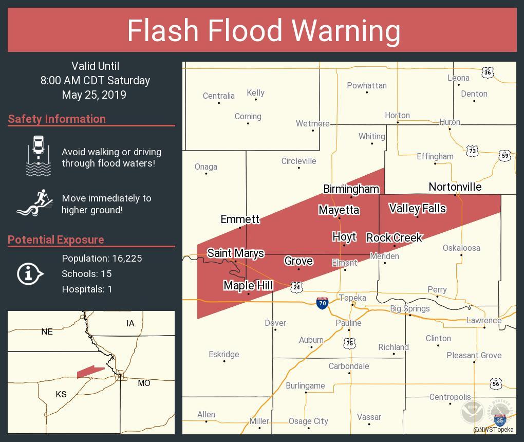 RT NWSFlashFlood: Flash Flood Warning including Saint Marys KS, Valley Falls KS, Rossville KS until 8:00 AM CDT <br>http://pic.twitter.com/qrokvD3MAy