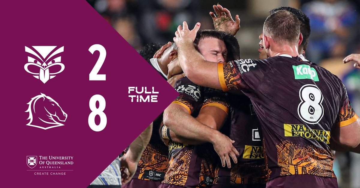 FT #NRLWarriorsBroncos a tight one but we come home with the goods #Bronxnation  2-8<br>http://pic.twitter.com/YZ3qGgQ6Wo