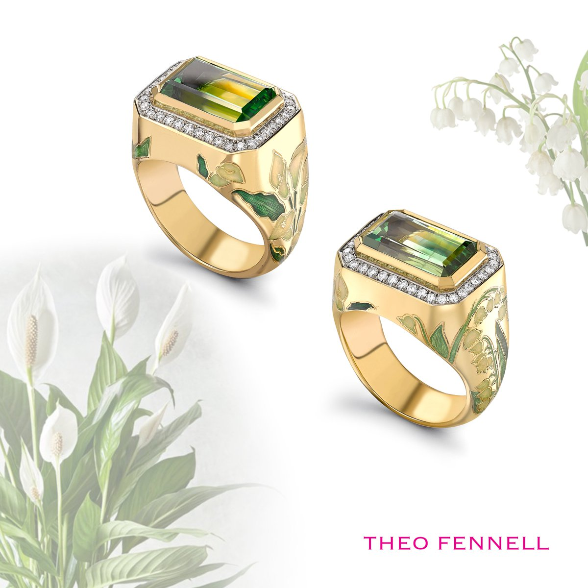 A very rare white and green tsavorite ring with lilies of the valley and snowdrops with enamelling. An exceptional way to say 'Hello Spring' #TheoFennell #Tsavorite #Enamel #Ring #Spring #LilyOfTheValley #Snowdroppic.twitter.com/dWInRBlXdi