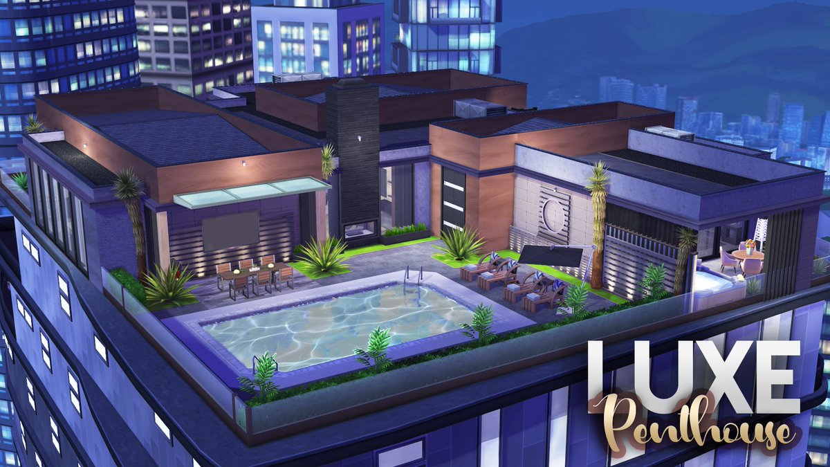 A FULLY CUSTOM BUILT LUXE PENTHOUSE (NO CC) The Sims 4