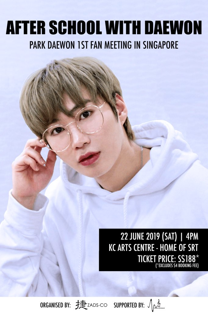 [#ParkDaeWoninSG] Fans of #MADTOWN/#UNBs member #ParkDaeWon, your boy will be meeting you in Singapore 🇸🇬 this end June! 😍 Ticket Sales 🎟️ will happen between 2 - 7 June 2019, 12PM. Head on over for more details ➡️ x-clusive.sg/2019/05/after-… #AfterSchoolwithDaewon #박대원