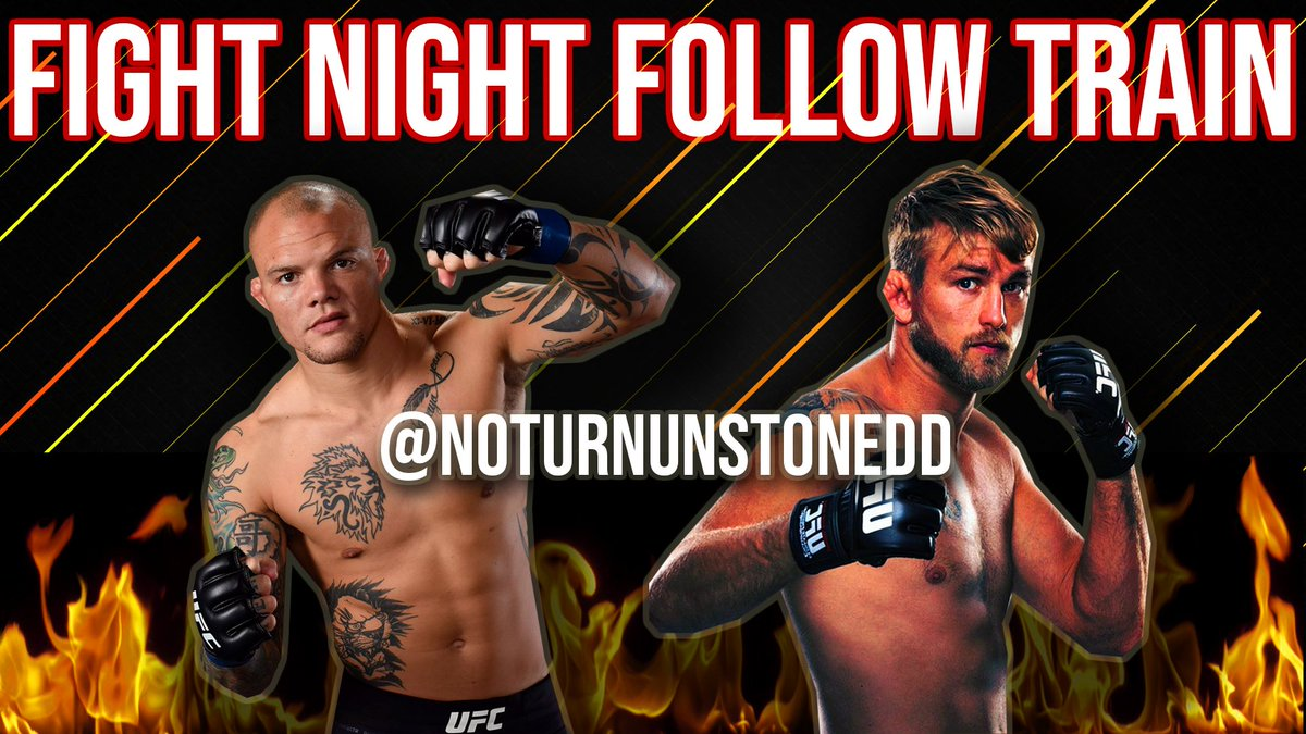 #UFCStockholm FIGHT NIGHT FOLLOW TRAIN!🔥💯  1. Retweet & Like this post. 2. Follow All MMA Accounts that share. 3. Watch your following grow & connect with new fans! #SmithGustafsson #FightNightFollowTrain 🚆