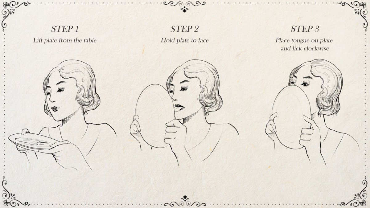 New Edition Of Emily Post's Etiquette Book To Include Chapter Demonstrating Proper Way To Lick Maple Syrup Off Plate https://trib.al/7sne41J