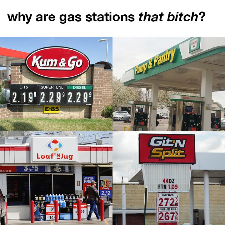 THESE ARE ALL REAL NAMES! What would you name your gas station