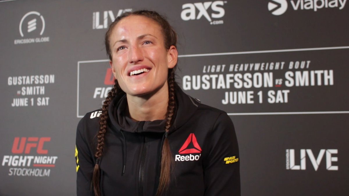 VIDEO: Fresh off her win at #UFCStockholm, @BeaMalecki says she believes Duda Santana was first opponent she was 'fully prepared' for  ▶️: https://youtu.be/dA9TH6hR7R8